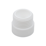 Safety-Adapter, PTFE, GL40 (female) to GL45 (male), ea.