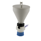 """Safety-Funnel, GL45, hinged lid, 1x 1/4""""-Tubing Port, ea."""