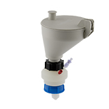 """Safety-Funnel, S50, hinged lid, 1x 3/16""""-Tubing Port, ea."""