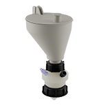 """Safety-Funnel, S60, hinged lid, 1x 1/4""""-Tubing Port, ea."""