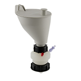 """Safety-Funnel, S60, hinged lid, 1x 3/16""""-Tubing Port, ea."""