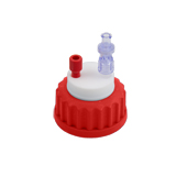 Safety-Cap GL45, Red, 1x Tubing Port, ea.
