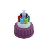 Safety-Cap GL45, Purple, 6x Tubing Port, ea.
