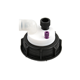 """Safety-Cap S55 for Prep HPLC, 1x 1/4""""-Tubing Port, 1x Tubing Port, ea."""