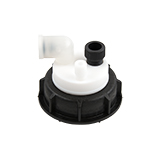 "Safety-Cap S55 for Prep HPLC, 1x 1/4""-Tubing Port, 1x 3/16""-Tubing Port, ea."