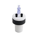 Safety-Cap Ground Neck Bottle 29/32mm, 2x Tubing Port, ea.