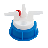 Waste-Cap S50, 1x Tubing Port, 3x Barbed Port, ea.