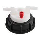 Waste-Cap S60, 1x Tubing Port, 2x Barbed Port, ea.