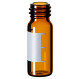1.5ml Screw Neck Vial 32 x 11.6mm (amber) with label and filling lines , 10-425, wide opening, pk.1000