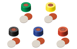 ND9 Short Thread Screw Caps with Septa Silicone Rubber/PTFE