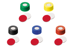 ND9 Short Thread Screw Caps with Septa Silicone/PTFE