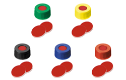 ND9 Short Thread Screw Caps with Septa PTFE/Silicone/PTFE