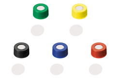 ND9 Short Thread Screw Caps with Septa PTFE only