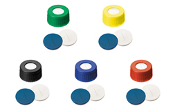 ND9 Short Thread Screw Caps with slitted Septa Silicone/PTFE