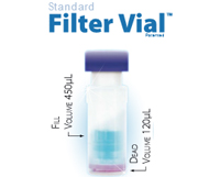 SINGLE StEP Filter Vial with Pre-Slit Cap