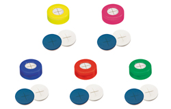 Snap Ring Cap with slitted Septa Silicone/PTFE