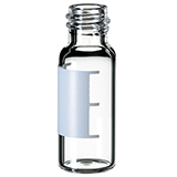 1.5ml Screw Neck Vial 32 x 11.6mm (clear) with label & filling lines, 8-425, narrow opening, pk.100