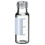 1.5ml Short Thread Vial 32 x 11.6mm (clear) with label & filling lines, wide opening, pk.100