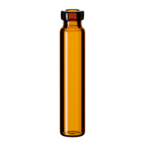 1.2ml Crimp Neck Vial 40 x 8.2mm (amber), flat bottom, pk.100