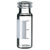1.5ml Snap Ring Vial 32 x 11.6mm (clear) with label & filling lines, wide opening, pk.100