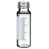 4ml Screw Vial 45 x 14.7mm (clear) with label and filling lines, pk.100