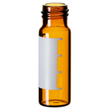 4ml Screw Vial 45 x 14.7mm (amber) with label and filling lines, pk.100
