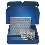 Metrohm Kit - 6ml Crimp Vial (clear) & Crimp Cap Silicone/PTFE, pk.100