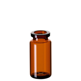 10ml ND20 Headspace Crimp Vial (amber), 46 x 22.5mm, rounded bottom, pk.100