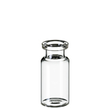 10ml ND20 Headspace Crimp Vial (clear) with long DIN crimp neck, 46 x 22.5mm, flat bottom, pk.100