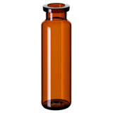 20ml ND20 Headspace Crimp Vial (amber), 75.5 x 22.5mm, rounded bottom, pk.100