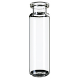20ml ND20 Headspace Crimp Vial (clear), 75.5 x 22.5mm, rounded bottom, pk.100