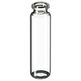 20ml ND20 Headspace Crimp Vial (clear), 75.5 x 23mm, rounded bottom, pk.100