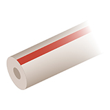 "PEEK Tubing - Striped Color-Coded (red) - 1/16"" OD x 0.13mm ID, 3m"