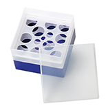 PP Storage Box for 28mm OD EPA Vials (violett), 130 x 130 x 105mm, 10 Position, ea.