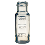 1.5ml PP Short Thread Vial 32 x 11.6mm (clear) with filling lines, pk.100