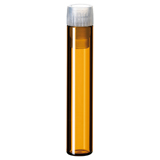 1ml Shell Vial (amber) incl. PE-Plug, 40 x 8.2mm, pk.100