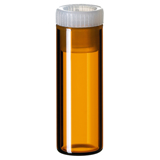 2ml Shell Vial (amber) incl. PE-Plug, 31.5 x 11.6mm, pk.100