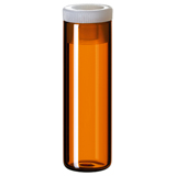 4ml Shell Vial (amber) incl. PE-Plug, 44.6 x 14.65mm, pk.100