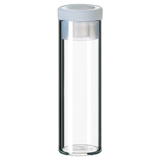 4ml Shell Vial (clear) incl. PE-Plug, 44.6 x 14.65mm, pk.100