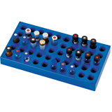PP Vial Racks for Standard 1.5ml Vials (200 x 105 x 17mm), 50 Positions, pk.5